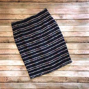 J Crew navy nubby tweed pencil skirt